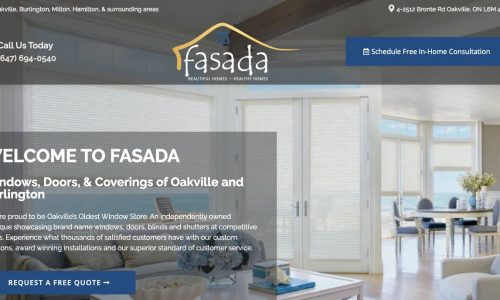Fasada windows website design